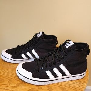 Adidas women's size 9 canvas sneakers High top shoes